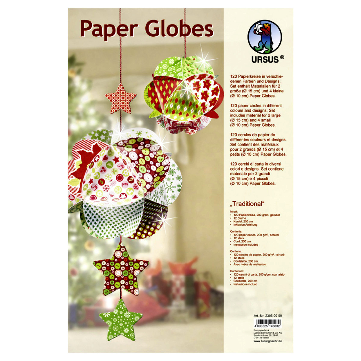 """Paper Globes """"Traditional"""""""