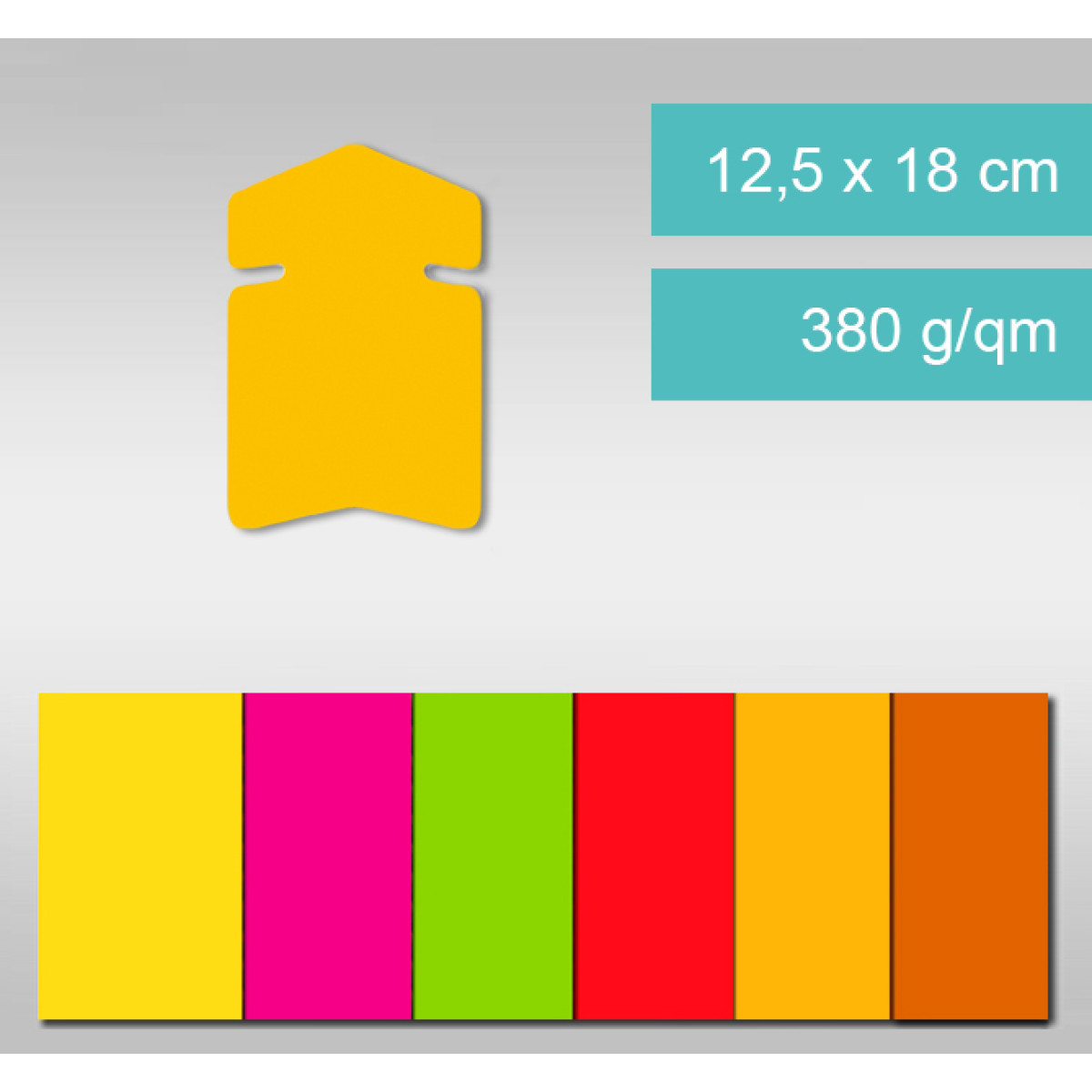 Pfeile aus Leuchtfarbenkarton 12,5 x 18 cm - 25 Stück