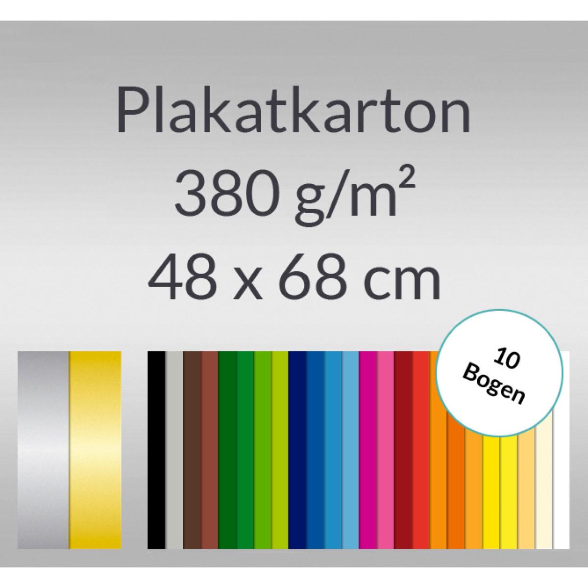 Plakatkarton 380 g/qm 48 x 68 cm - 10 Bogen