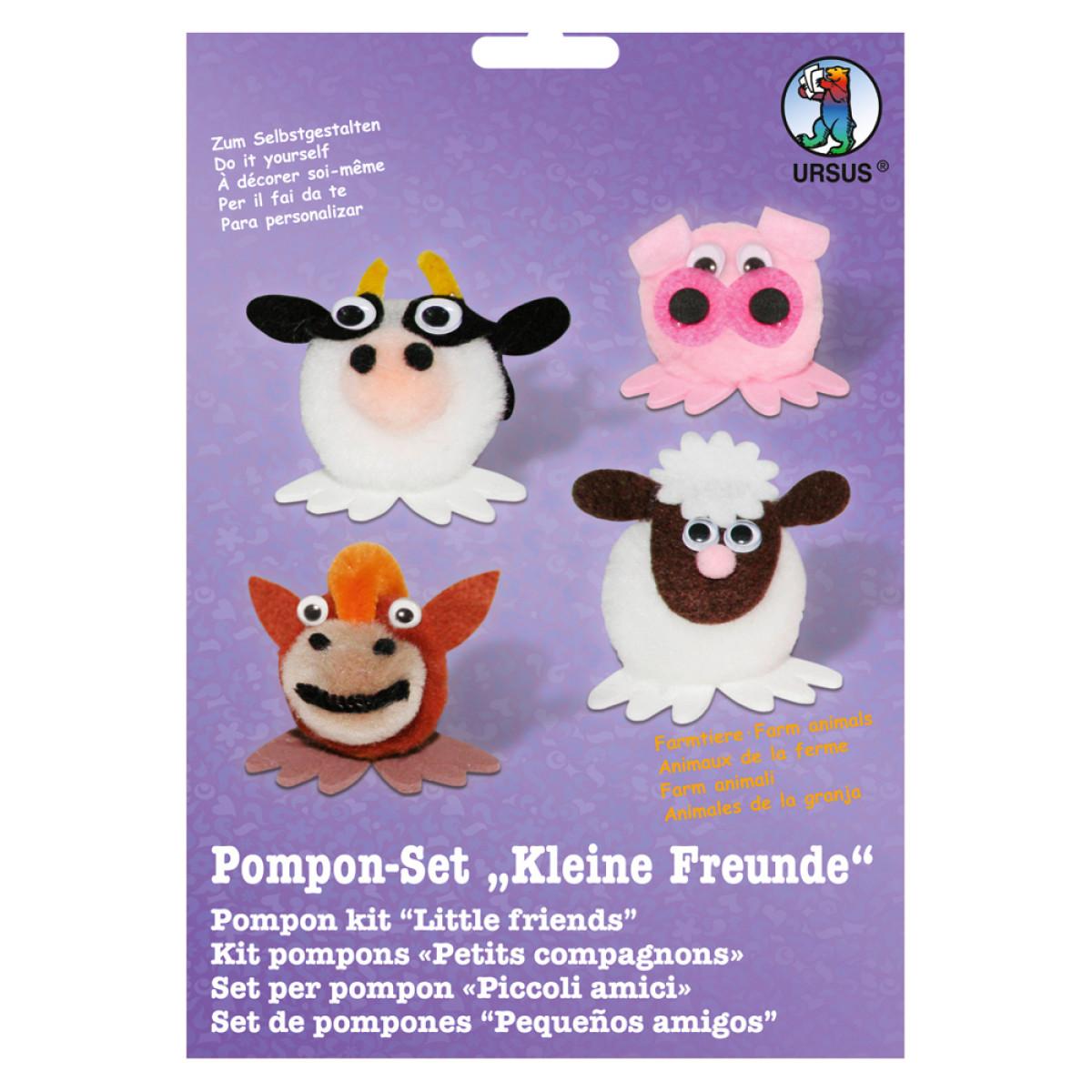 "Pompon-Set ""Kleine Freunde"" Farmtiere"