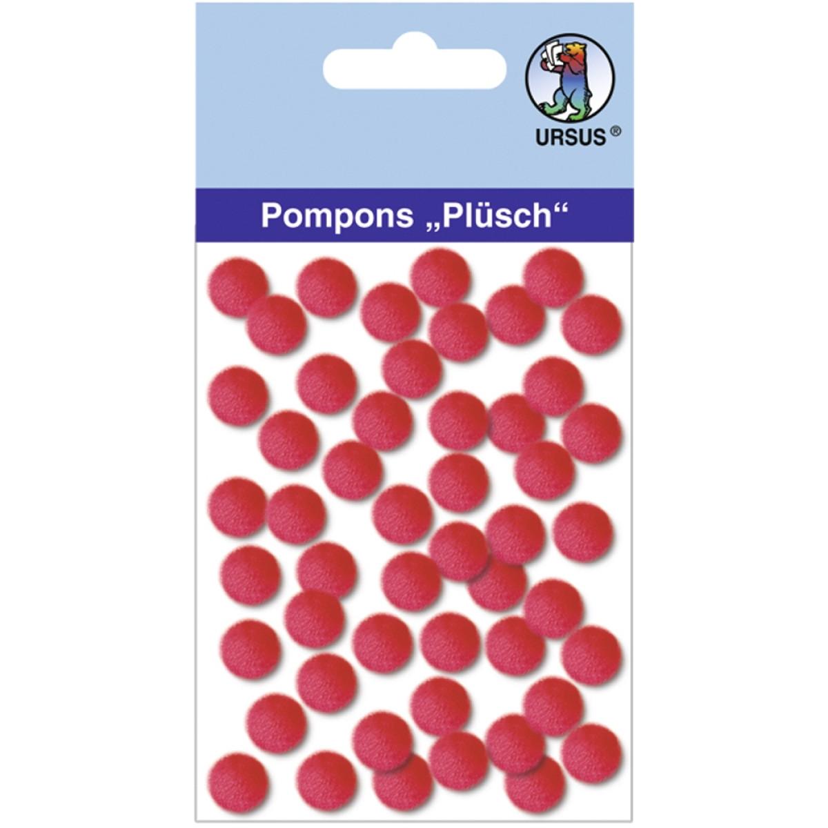 "Pompons ""Plüsch"" 10 mm rubinrot"