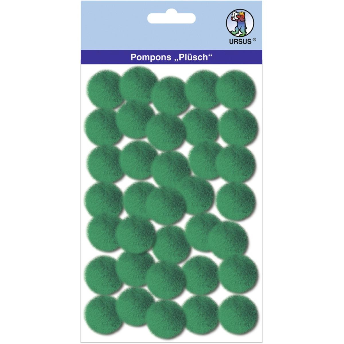 "Pompons ""Plüsch"" 25 mm dunkelgrün"