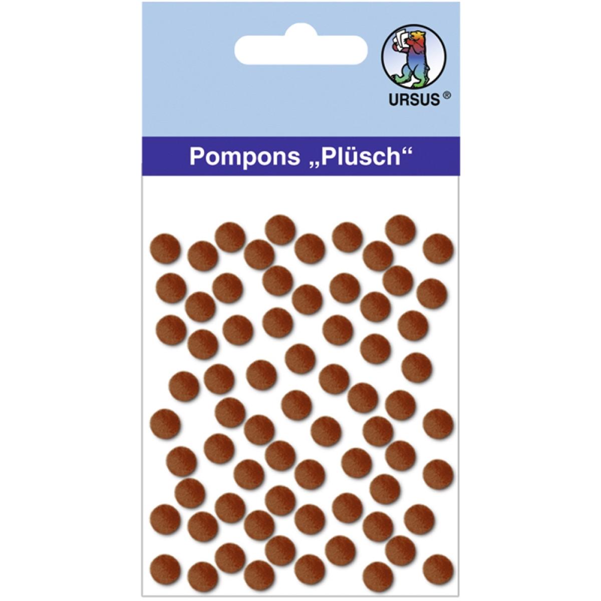 "Pompons ""Plüsch"" 7 mm dunkelbraun"