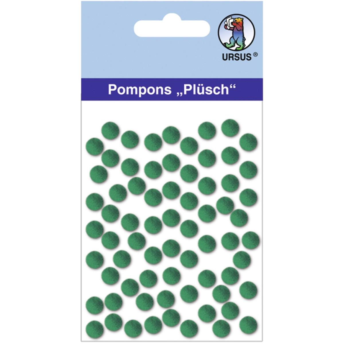 "Pompons ""Plüsch"" 7 mm dunkelgrün"