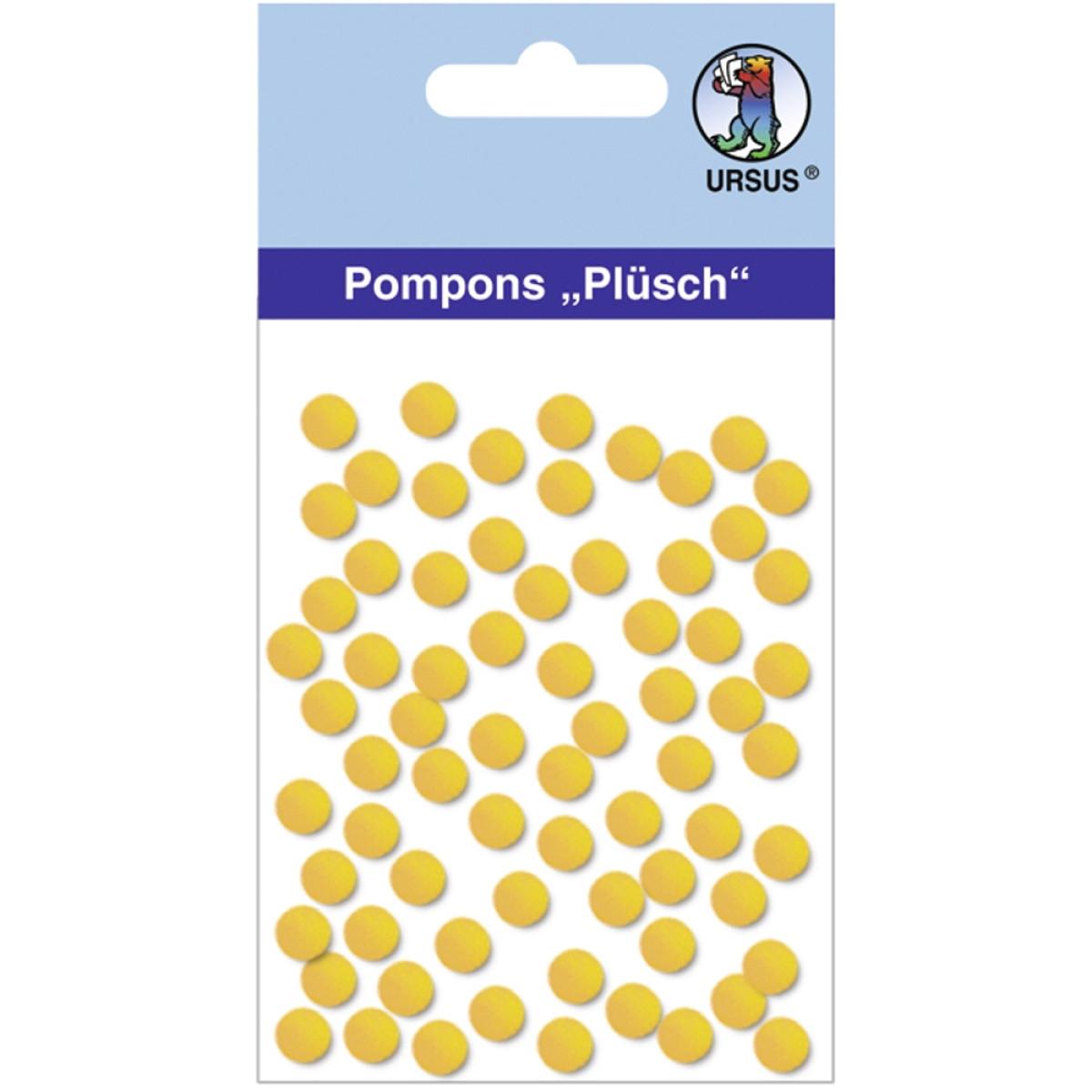 """Pompons """"Plüsch"""" 7 mm sonnengelb"""