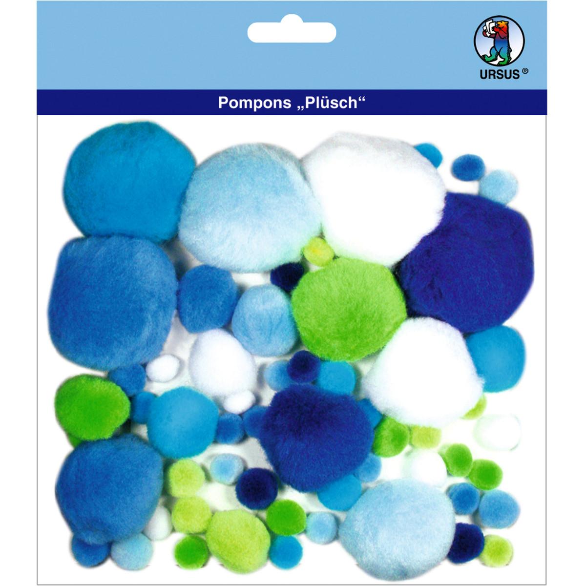 """Pompons """"Plüsch"""" Mix 4"""