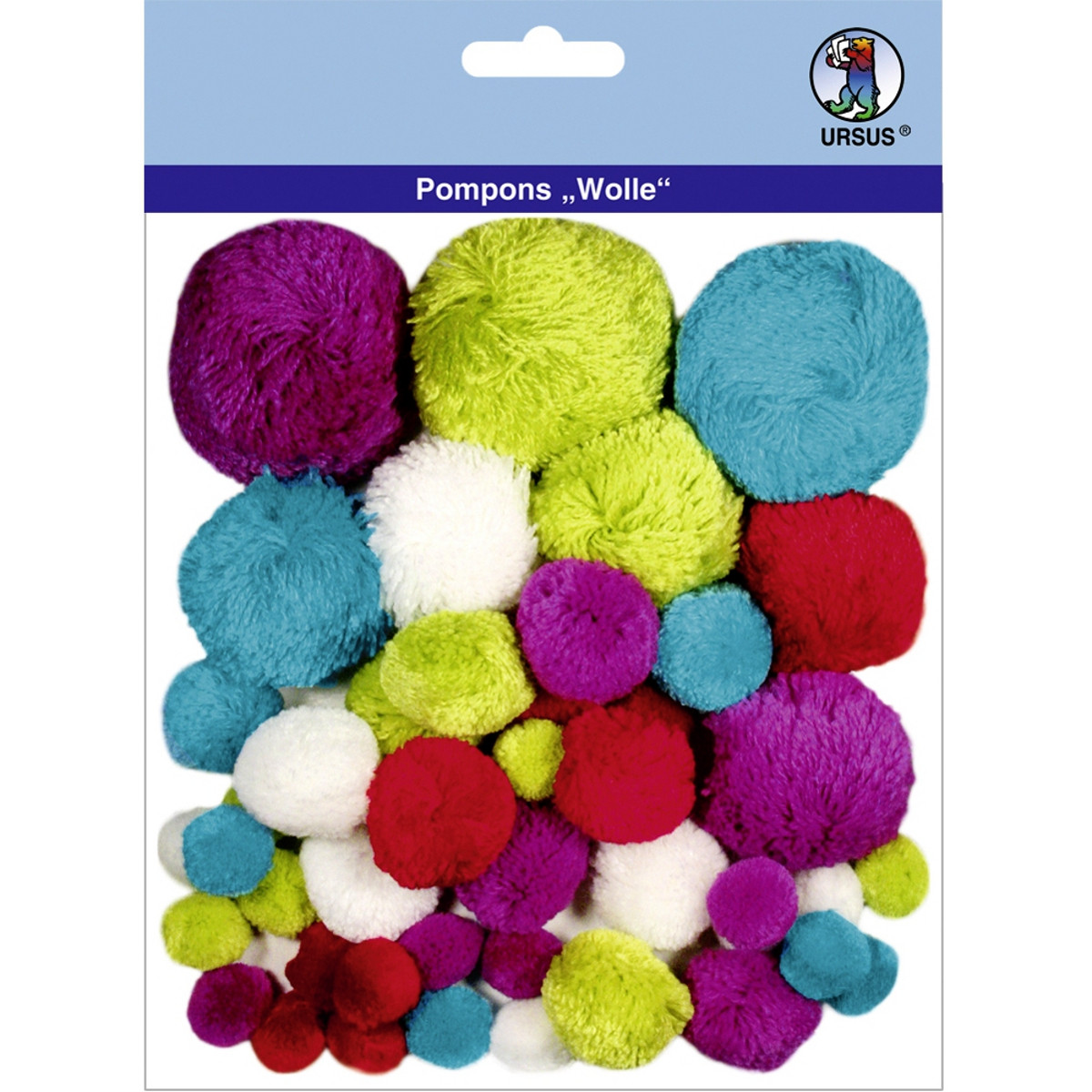 """Pompons """"Wolle"""" Mix 10"""