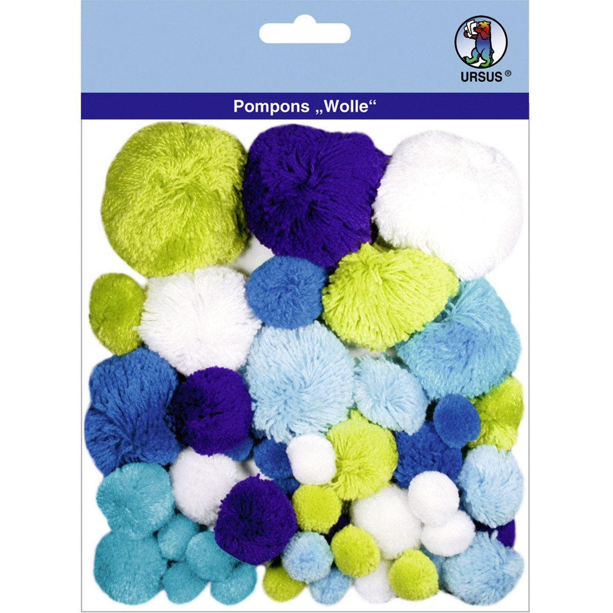 """Pompons """"Wolle"""" Mix 4"""