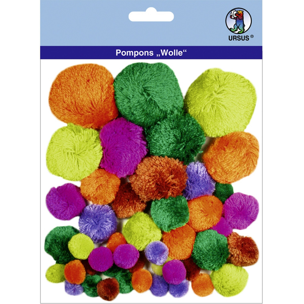 "Pompons ""Wolle"" Mix 5"