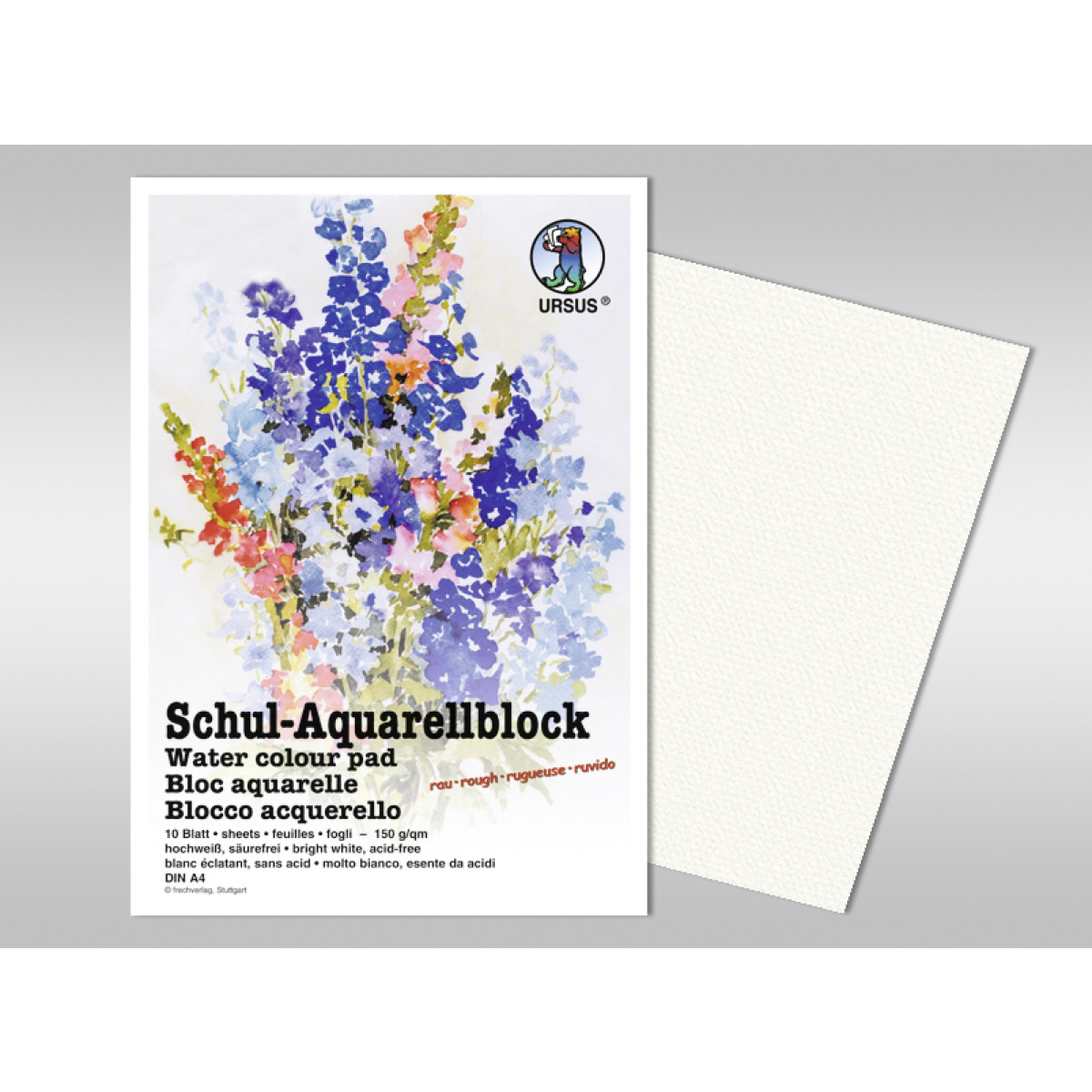 Schul-Aquarellblock 150 g/qm DIN A3 - 10 Blatt