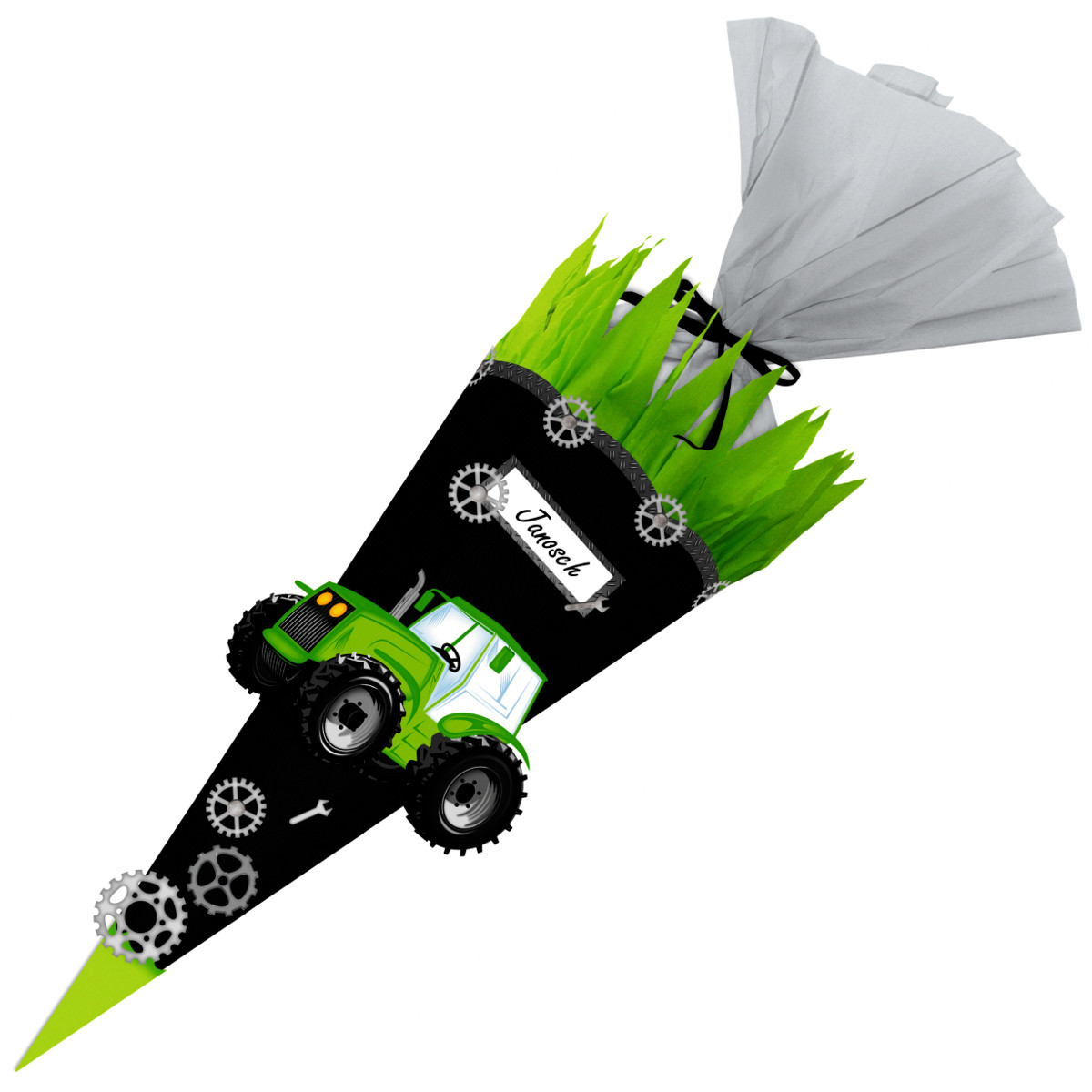 Schultüten Bastelset Traktor Easy Line Buntpapierwelt