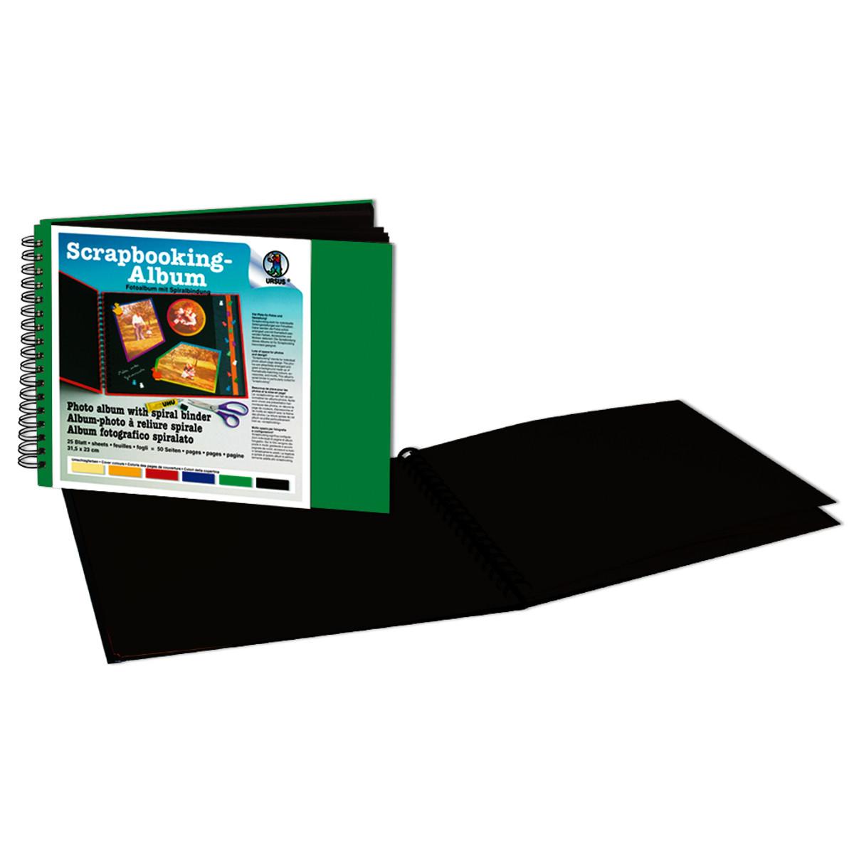 Scrapbooking-Album 23 x 31,5 cm - 25 schwarze Seiten