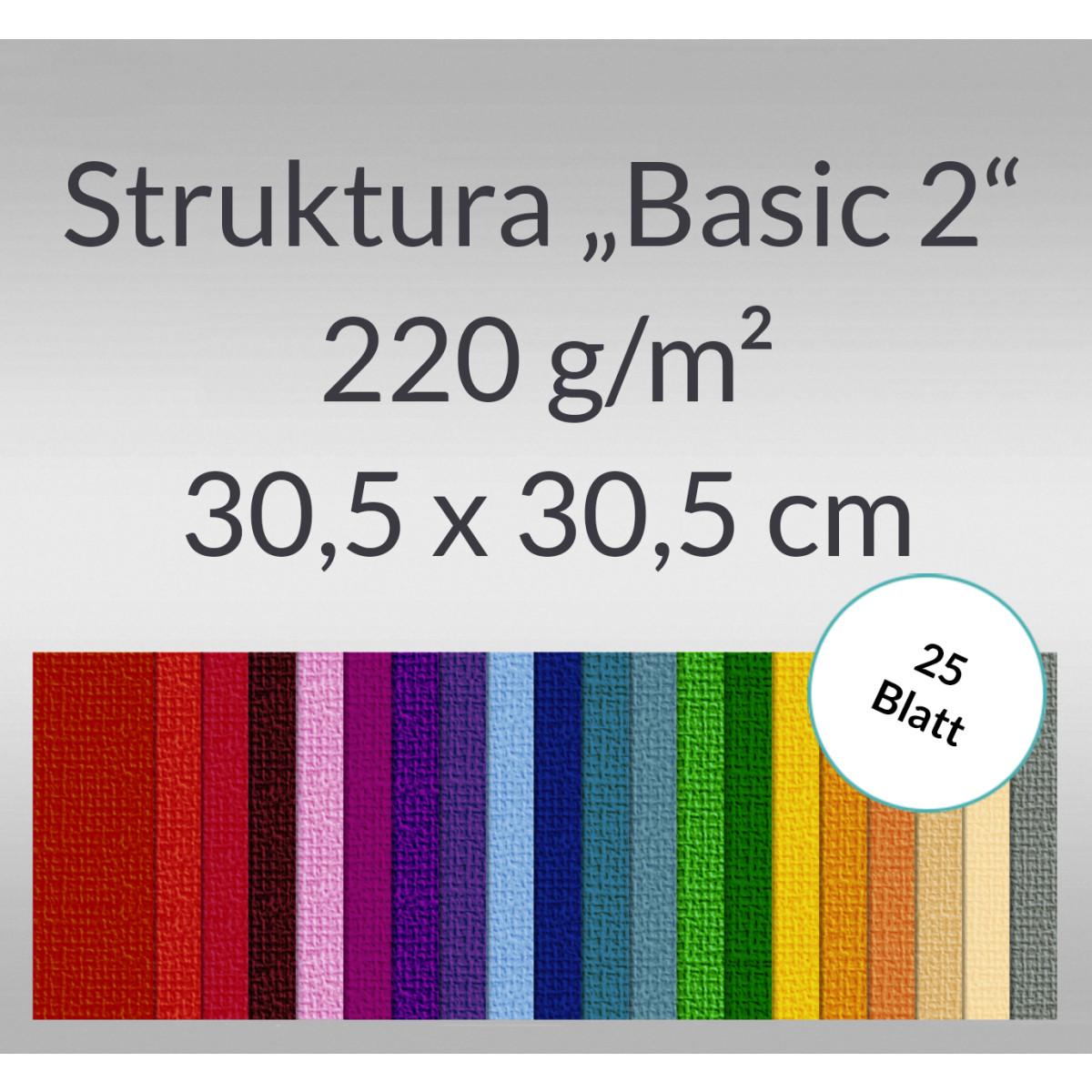 "Scrapbooking Papier ""Struktura Basic 2"" 30,5 x 30,5 cm - 25 Blatt"