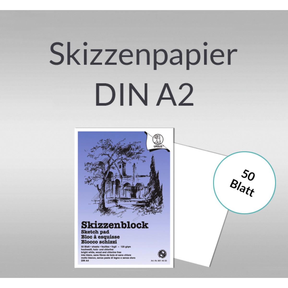 Skizzenblock 120 g/qm DIN A2