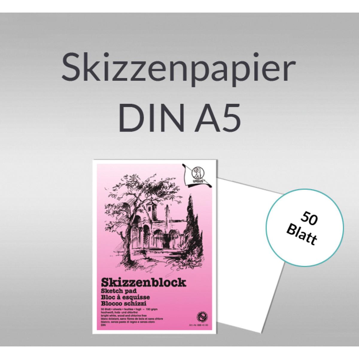Skizzenblock 190 g/qm DIN A5