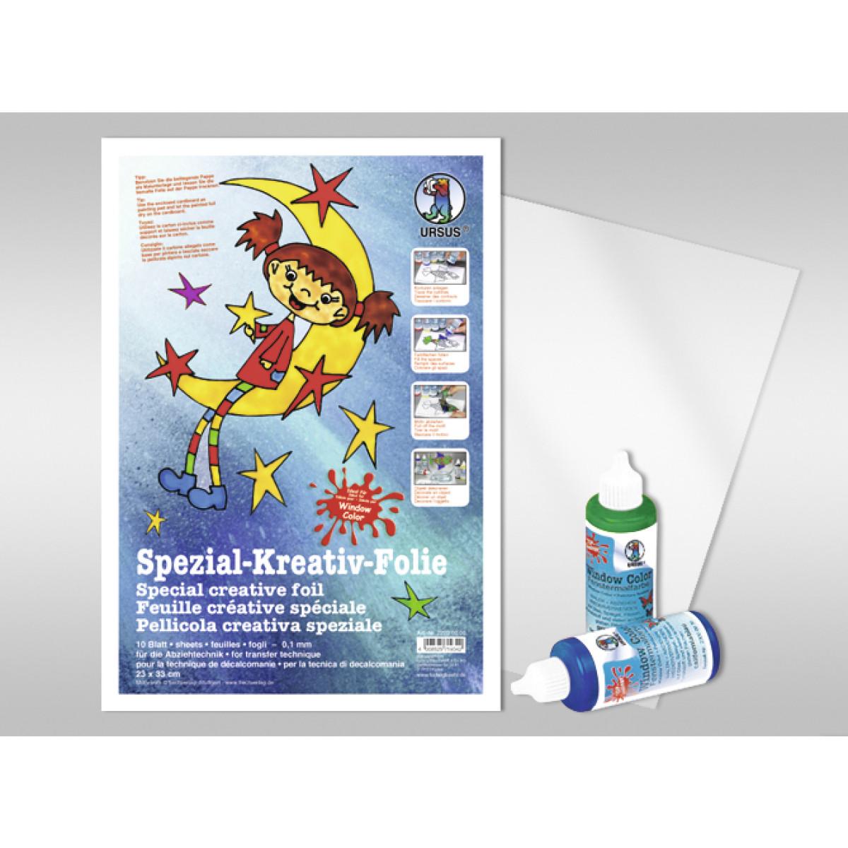 Spezial-Kreativ-Folie 23 x 33 cm - 10 Blatt