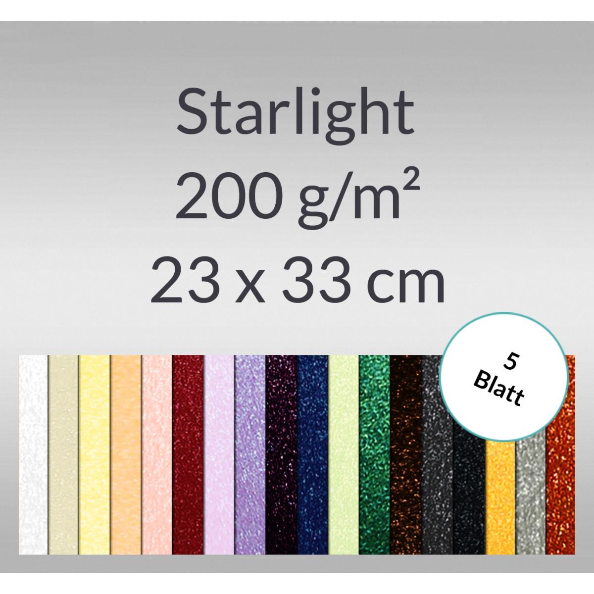 Starlight 200 g/qm 23 x 33 cm - 5 Blatt