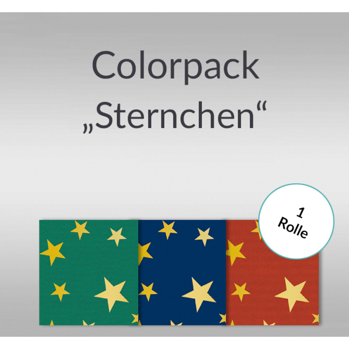 Sternchen- Colorpack 80 g/qm - 1 Rolle