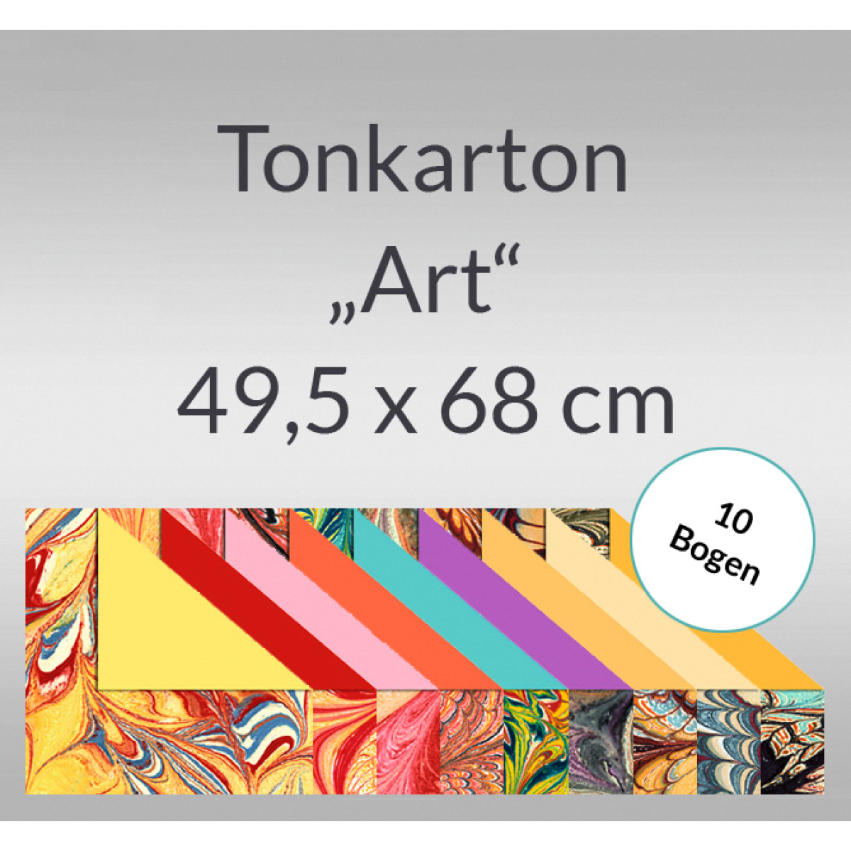 "Tonkarton ""Art"" 220 g/qm 49,5 x 68 cm - 10 Bogen"