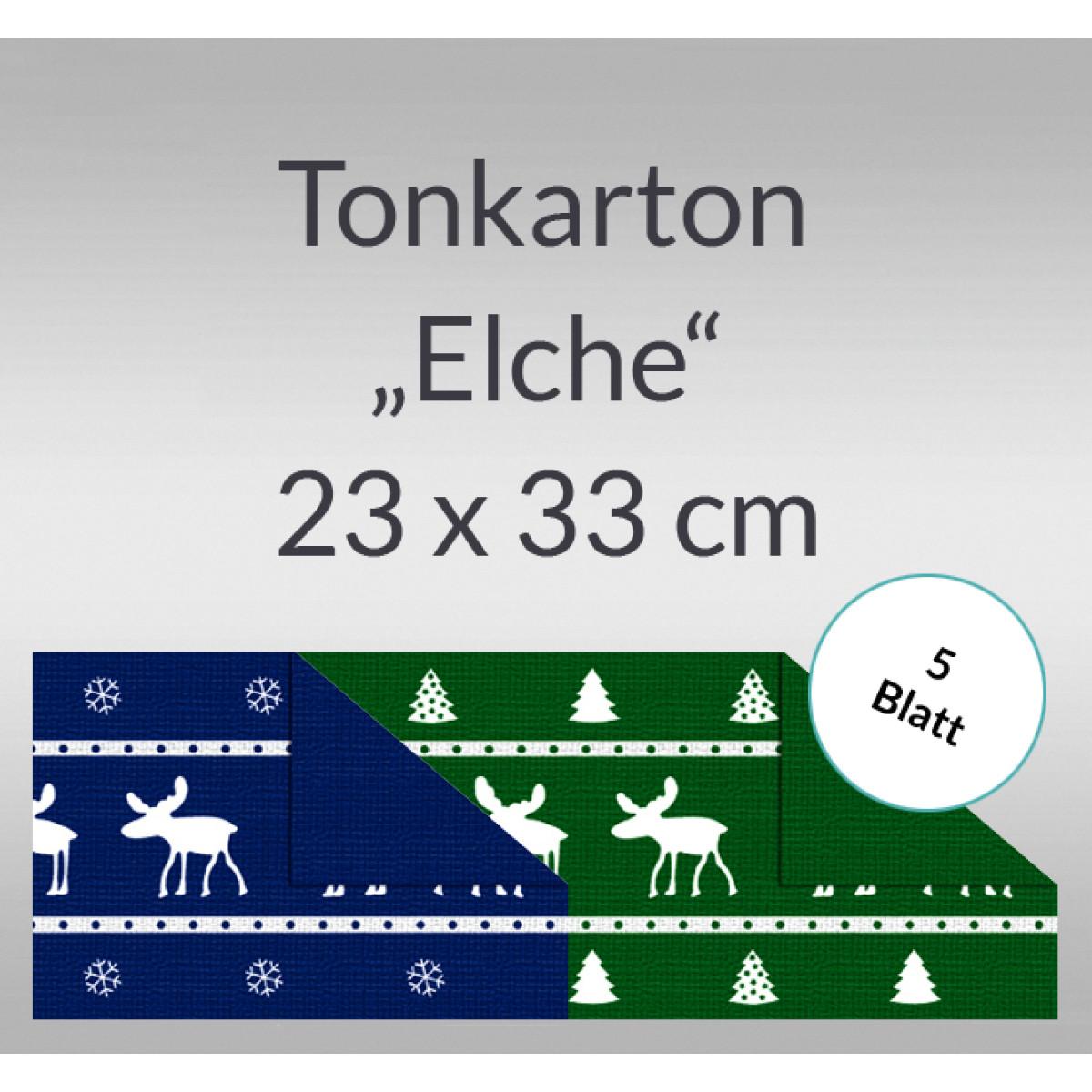 """Tonkarton """"Elche"""" 220 g/qm 23 x 33 cm - 5 Blatt"""