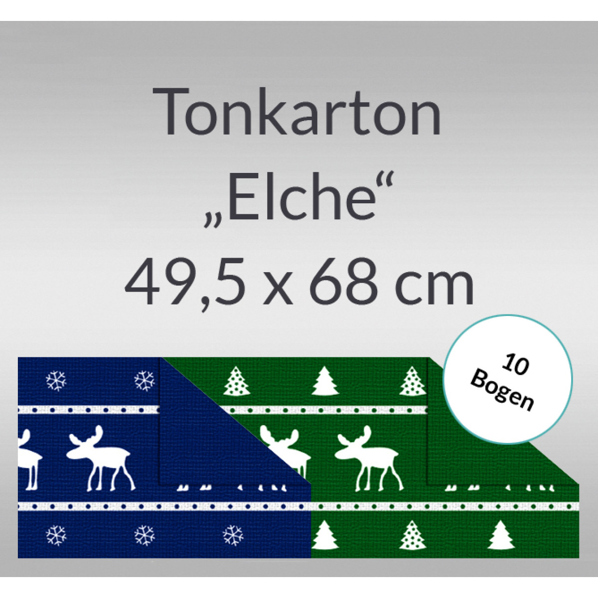 "Tonkarton ""Elche"" 220 g/qm 49,5 x 68 cm - 10 Bogen"