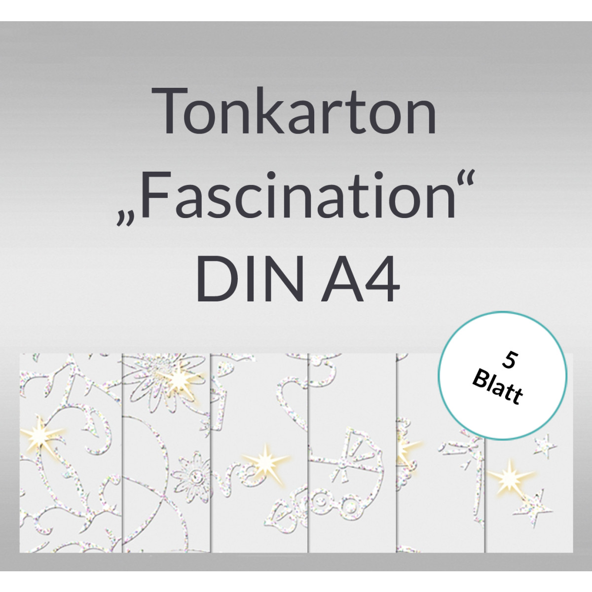 "Tonkarton ""Fascination"" DIN A4 - 5 Blatt"