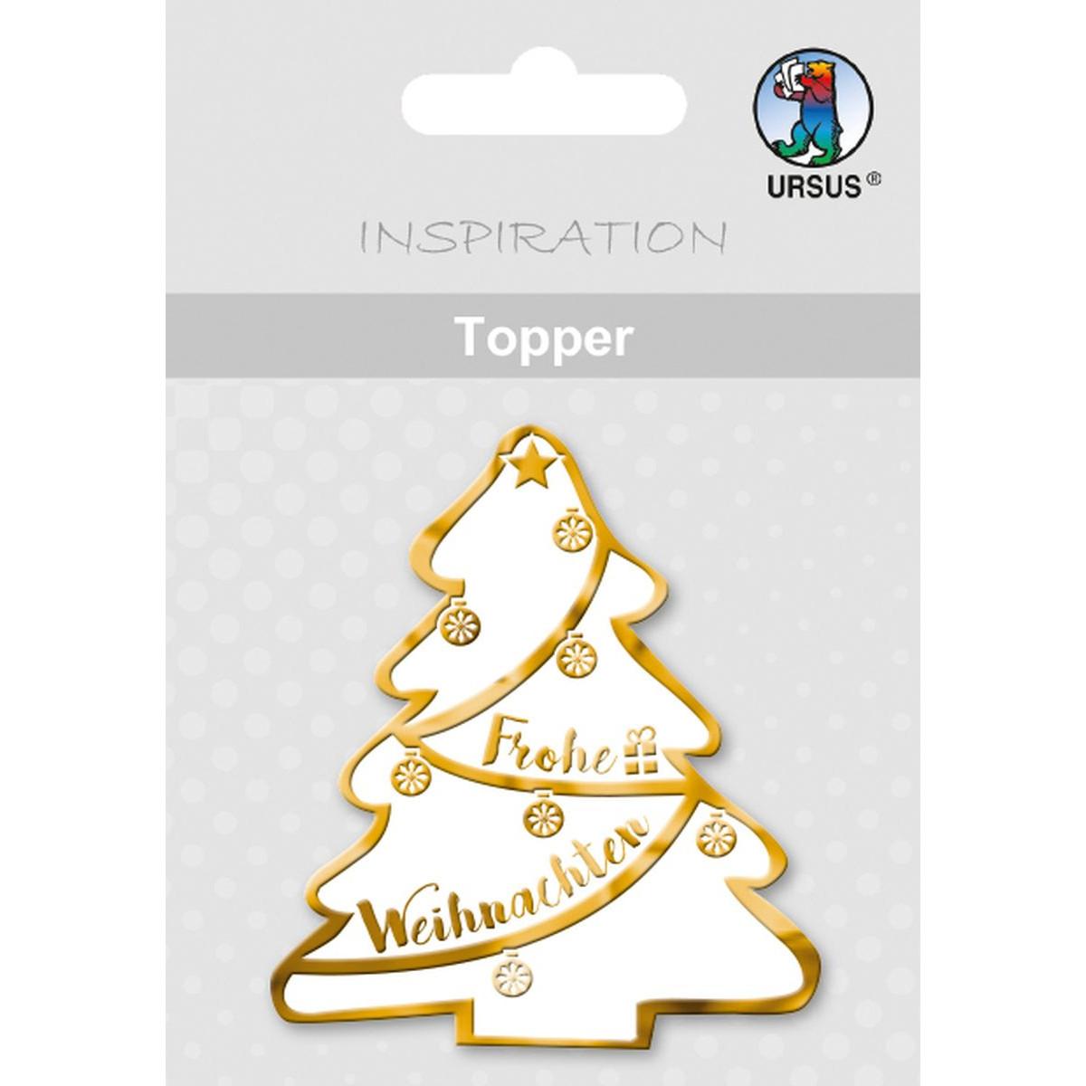 topper weihnachtsbaum wei gold motiv 32 buntpapierwelt. Black Bedroom Furniture Sets. Home Design Ideas