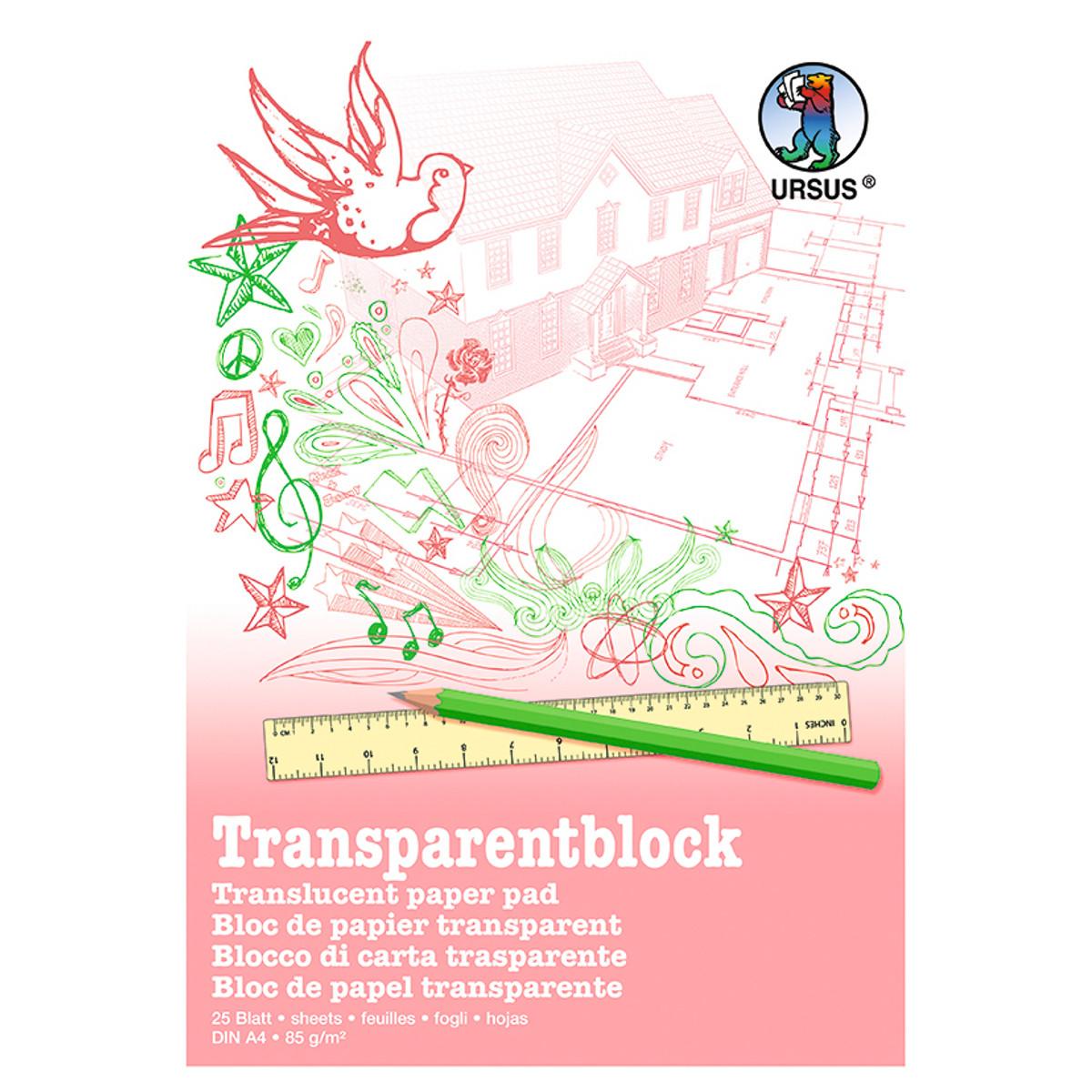 Transparentblock 85 g/qm DIN A4 - 25 Blatt