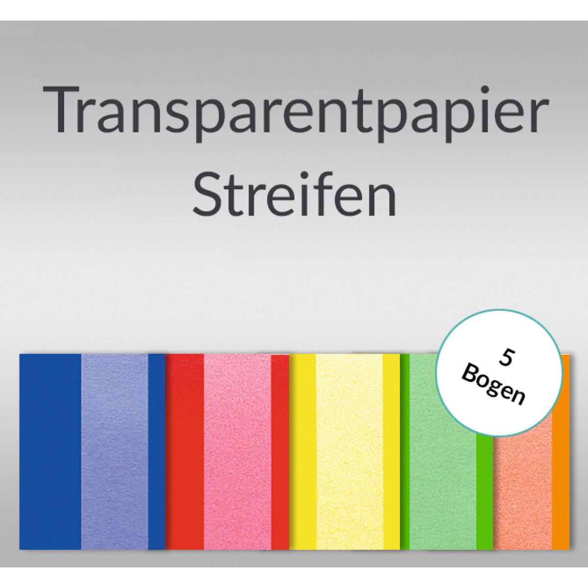 """Transparentpapier """"Streifen"""" DIN A4 - 5 Blatt"""