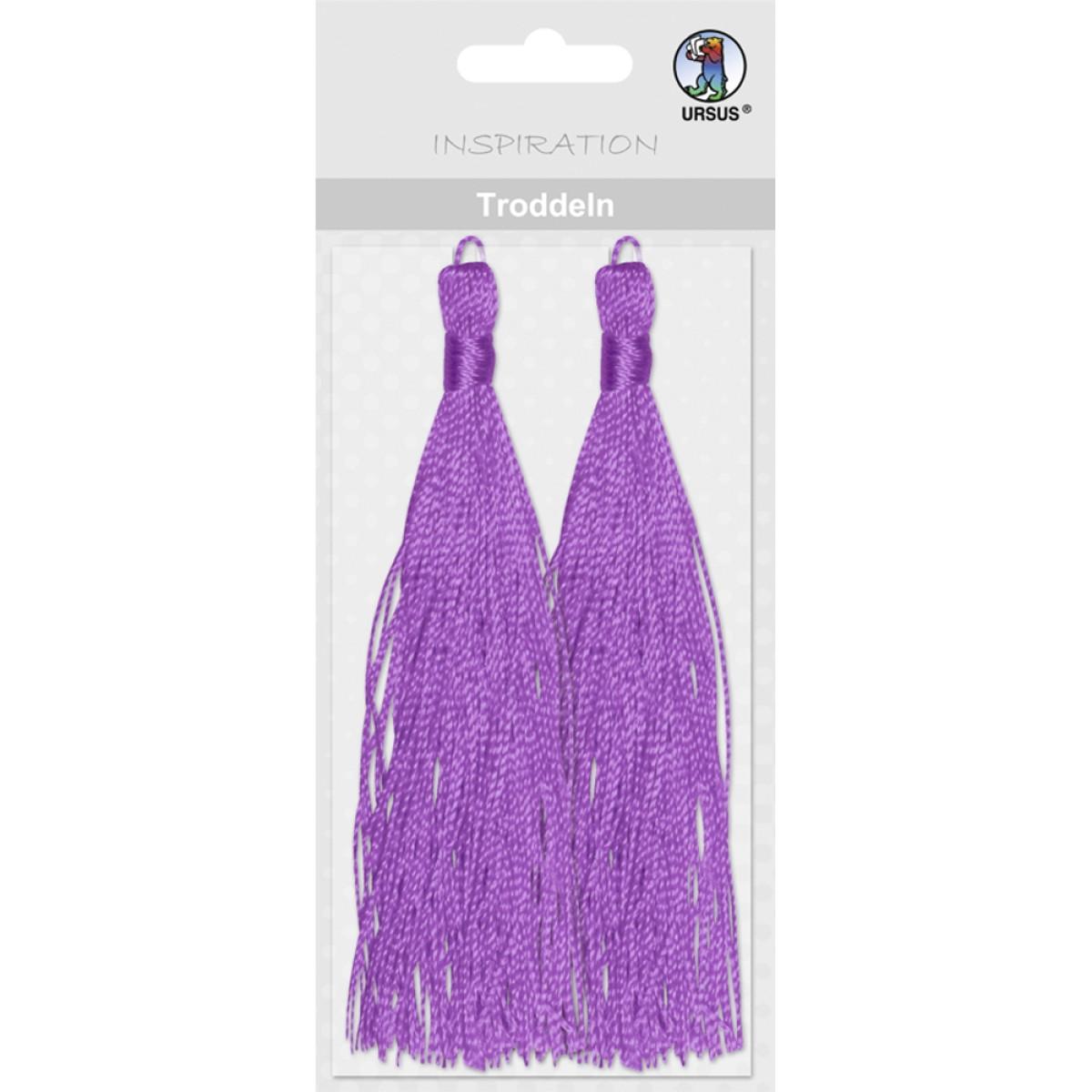 Troddeln mit Kordeln violett