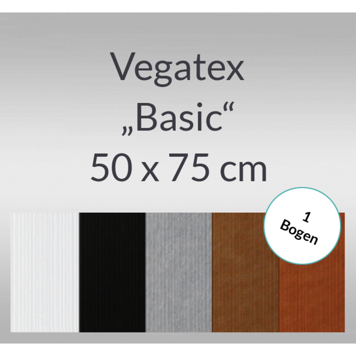 vegatex basic 50 x 75 cm 1 bogen buntpapierwelt. Black Bedroom Furniture Sets. Home Design Ideas