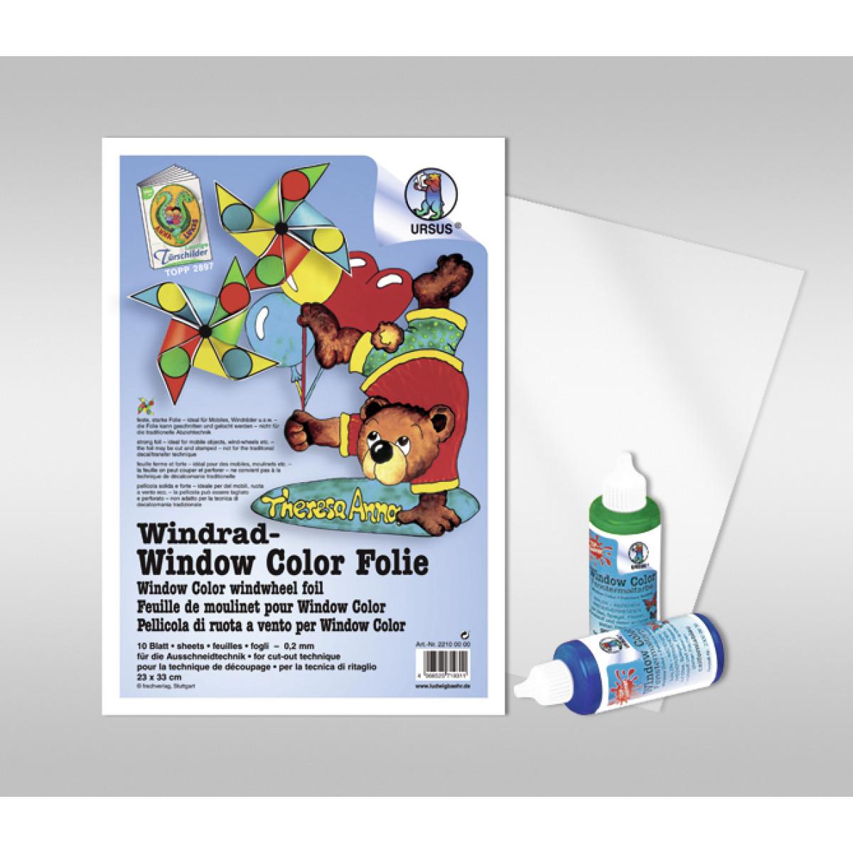 Windrad-Kreativ-Folie 23 x 33 cm - 10 Blatt