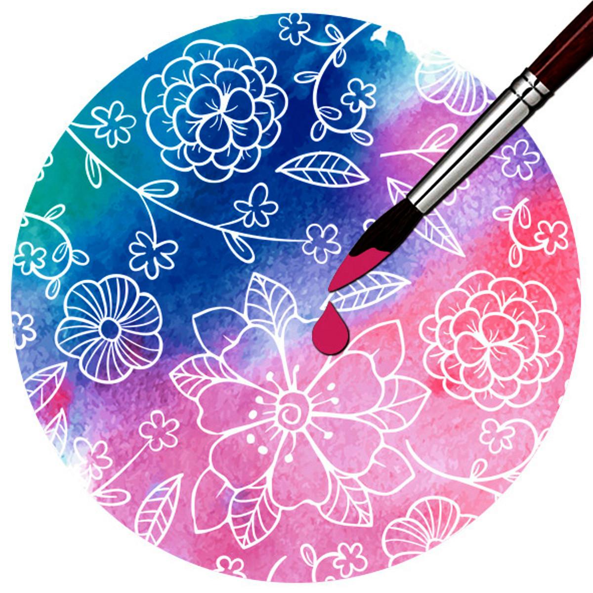"""Zauberpapier """"Blüten"""" DIN A4 - 10 Blatt"""