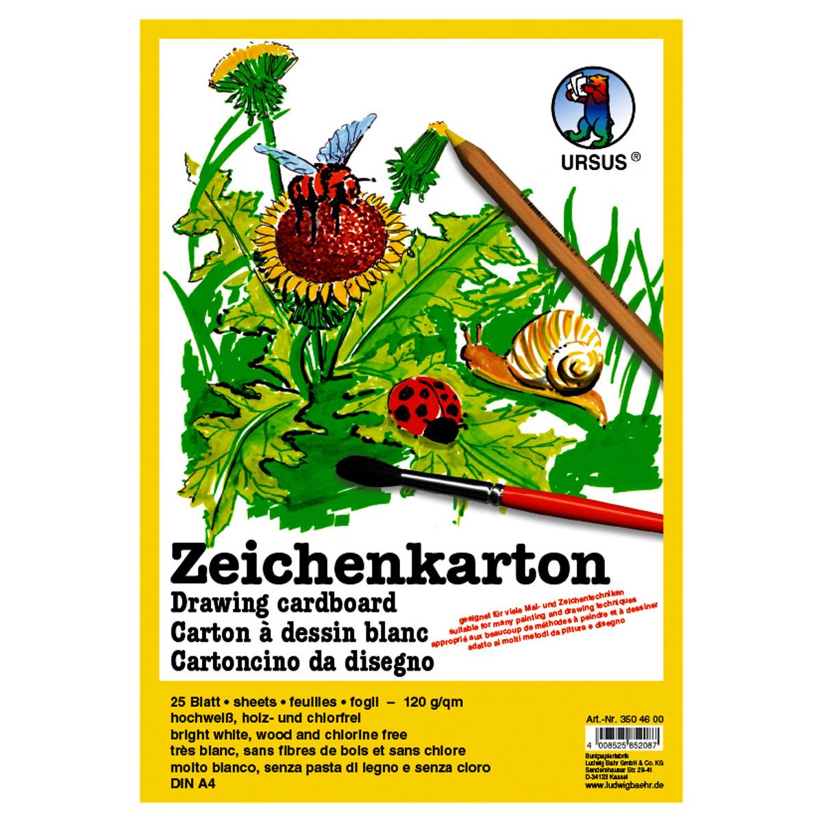 Zeichenkarton 120 g/qm DIN A4 - 250 Blatt