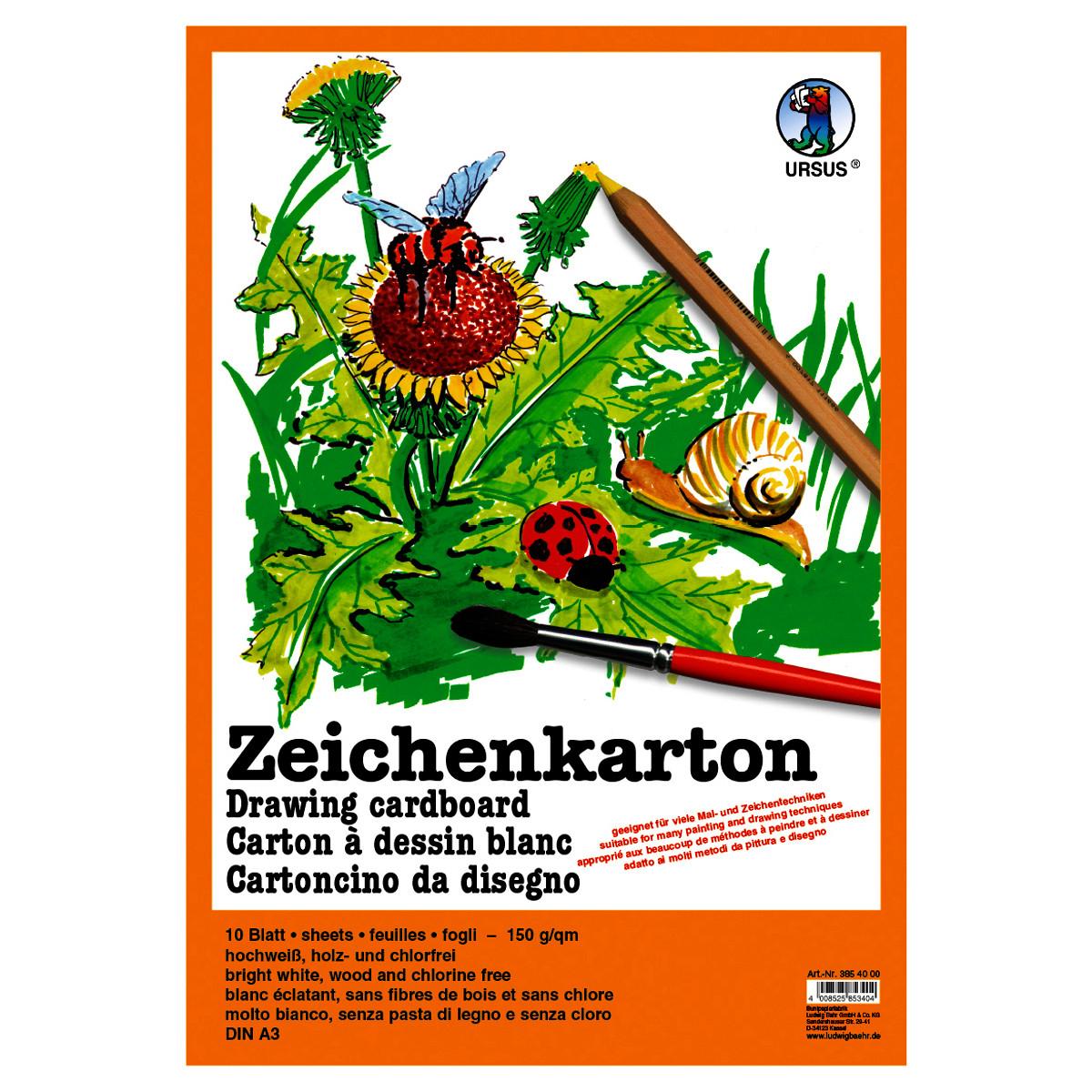 Zeichenkarton 150 g/qm DIN A2 - 25 Bogen