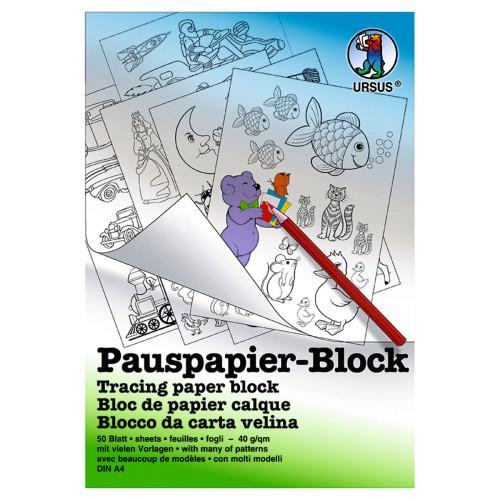 Pauspapier-Block 40 g/qm - Buntpapierwelt