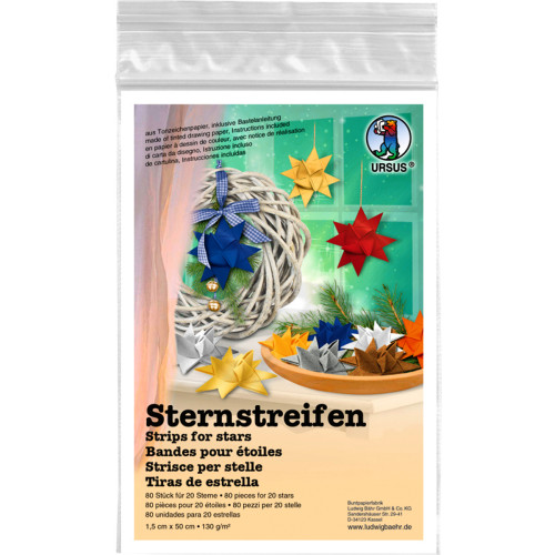 Sternstreifen uni 1 5 x 50 cm 80 faltstreifen for Wohnzimmertisch 80 x 50