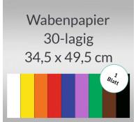 Wabenpapier 34,5 x 49,5 cm - 1 Blatt