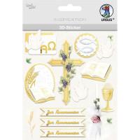 """3D-Sticker """"Christliche Symbole"""" Kommunion"""
