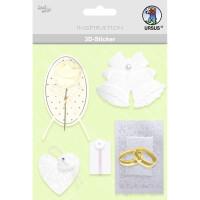 """3D-Sticker """"Hochzeit"""" Motiv 54"""