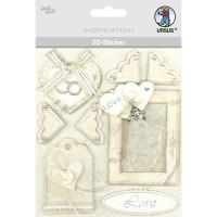 """3D-Sticker """"Hochzeit"""" Motiv 98"""