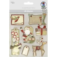 """3D-Sticker """"Weihnachten"""" Motiv 128"""