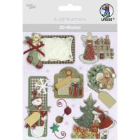 """3D-Sticker """"Weihnachten"""" Motiv 129"""