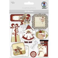 """3D-Sticker """"Weihnachten"""" Motiv 130"""