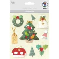 """3D-Sticker """"Weihnachten"""" Motiv 72"""