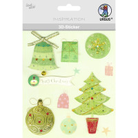 """3D-Sticker """"Weihnachten"""" Motiv 76"""