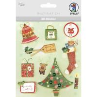 """3D-Sticker """"Weihnachten"""" Motiv 88"""