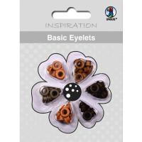 Basic Eyelets 3 mm braun