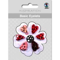 Basic Eyelets 3 mm rot