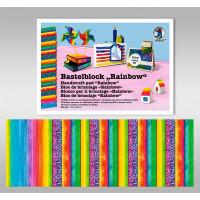 """Bastelblock """"Rainbow"""" 24 x 34 cm - 16 Blatt"""